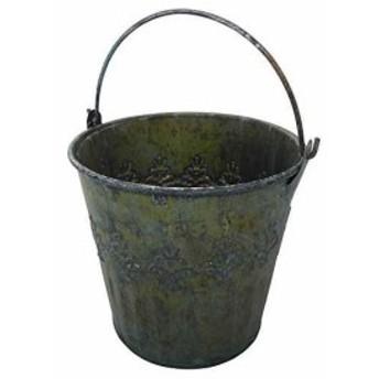 アンティーク調 ブリキ鉢カバー プランターカバー Tin pot レデリ ポット S[30-413]