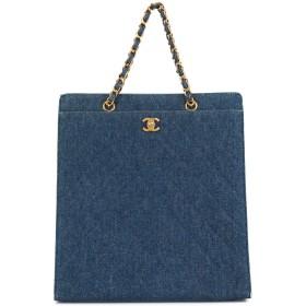 eed607e0babb Chanel Pre-Owned CC デニムトートバッグ - ブルー 通販 LINEポイント ...