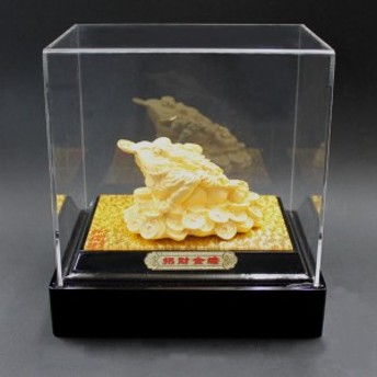 風水 かえる 風水グッズ 銅箔金メッキ製 招財金蛙 ケース付 カエル 置物 カエルの置物 玄関 飾り物 開運祈願 風水 2019 送料無料