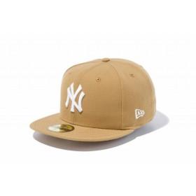 ニューエラ(NEW ERA) 59FIFTY MLB ニューヨーク・ヤンキース ウィート × ホワイト 11308532