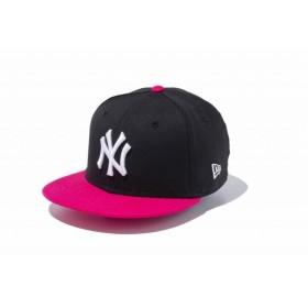 ニューエラ(NEW ERA) Youth 9FIFTY ニューヨーク・ヤンキース ブラック × ホワイト ブライトローズバイザー 11433966