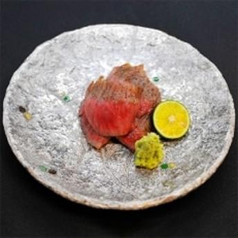 【美食家セット】唐津焼 玄窯・銀彩皿+A5ランク佐賀牛サーロインステーキ300g×2枚
