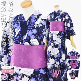 浴衣と帯の色が選べる 浴衣+作り帯+下駄3点セット 10020272