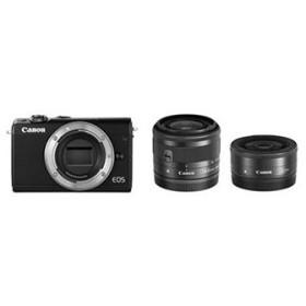 Canon EOS M100 ダブルレンズキット [ブラック]【お取り寄せ(10日〜2週間半程度)での入荷、発送】(2100000012163)
