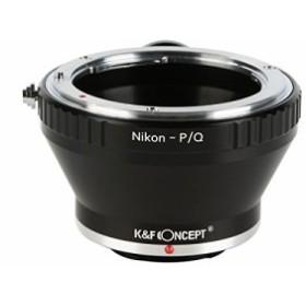 送料無料★K&F Concept レンズマウントアダプター KF-NFQ-T (ニコンFマウントレンズ → ペンタックスQマウント変換)三脚座付き