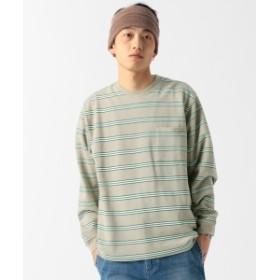 BEAMS / ヘビーカノコ マルチボーダー Tシャツ メンズ Tシャツ BEIGE M