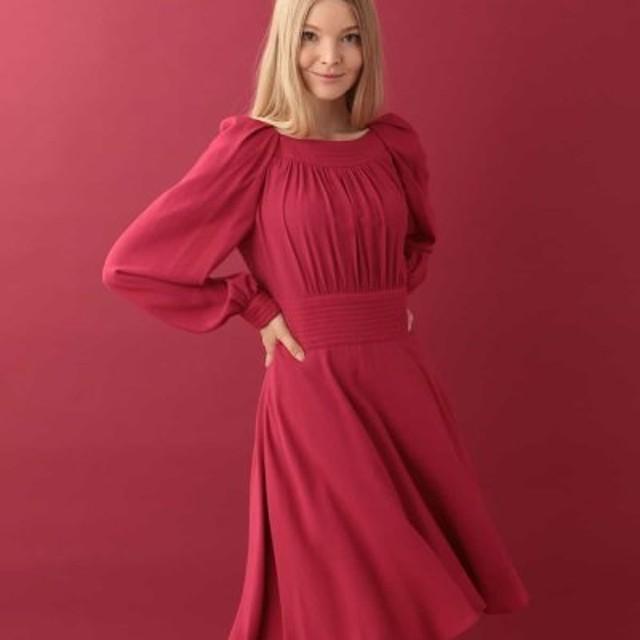 b349cbd5d197e (Tara Jarmon タラジャーモン)レーヨンギャザードレス IMPORTED レディース レッド 送料無料