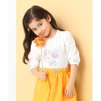 【オンワード】 any FAM KIDS(エニィファム キッズ) 【KIDS】40/2天竺 ブーケプリント Tシャツ ホワイト 80 キッズ 【送料無料】
