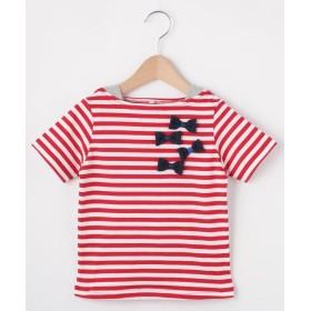 HusHusH(Kids)(ハッシュアッシュ(キッズ)) 【90-150cm】立体リボンフェイクレイヤードTシャツ
