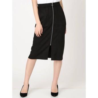 [OUTLET LIMITED ITEM]【MURUA】フェイクスウェードフロントジップスカート