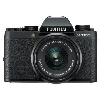 FUJIFILM X-T100 レンズキット [ブラック]【お取り寄せ(10日〜2週間半程度)での入荷、発送】(2100000012941)