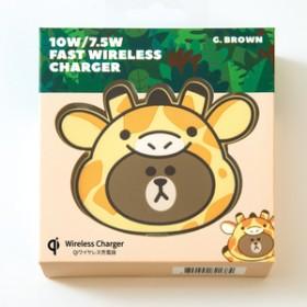 ゲート急速充電対応 ワイヤレス充電パッド ジャングルブラウンG.ブラウンKCL-WPT003