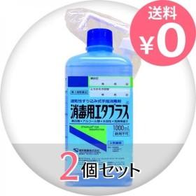1個あたり1409円 消毒用エタプラス(殺菌消毒薬) 1000mL (手押しポンプ付) 2個セット  第3類医薬品