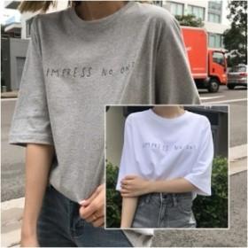 Tシャツ オーバーサイズのシンプルなロゴ 2カラー