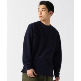 BEAMS / ヘビー 鹿の子 ルーズ クルーネックTシャツ メンズ Tシャツ NAVY L