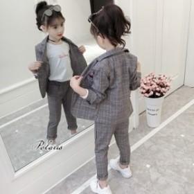 女の子 フォーマル スーツ 子供 セットアップ キッズ 上下 ベビー カジュアル 結婚式 入学式 入園式 卒園式 卒業式 七五三 発表会
