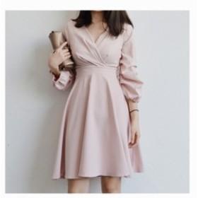 ワンピース カシュクールワンピース スカート 全2色