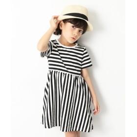 [マルイ] 子供服 ワンピース キッズ 韓国子供服 ボーダー半袖ワンピース 女の子 半そで/デビロック(devirock)