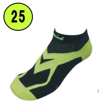 ニシスポーツ VV ホールドレーシングソックス 靴下 N22-001 ブラック×ライム(0733) 25(25〜27cm)