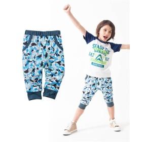 サルエルパンツ7分丈(男の子。女の子 子供服。ジュニア服) パンツ