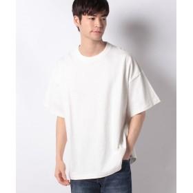 【55%OFF】 ウィゴー WEGO/ヘビースラブビッグTシャツ メンズ ホワイト S 【WEGO】 【タイムセール開催中】