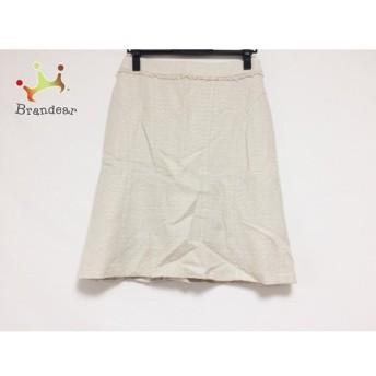 ニジュウサンク 23区 スカート サイズ38 M レディース ベージュ×白 ラメ スペシャル特価 20190729【人気】