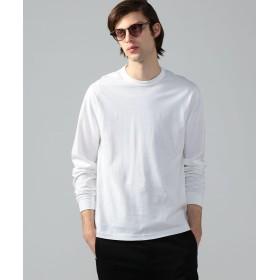 トゥモローランド スエードコットン クルーネックカットソー メンズ 11ホワイト S 【TOMORROWLAND】
