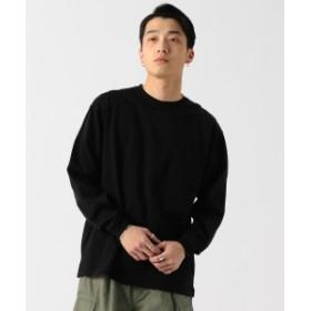 BEAMS / シルケット ルーズ Tシャツ メンズ Tシャツ BLACK XL