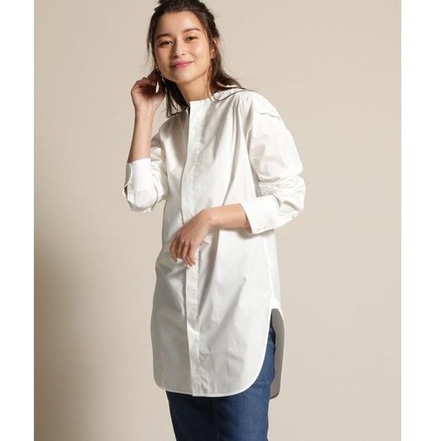 anatelier / アナトリエ Traditional Weatherwear(トラディショナルウェザーウエア)ノーカラーチュニックシャツ