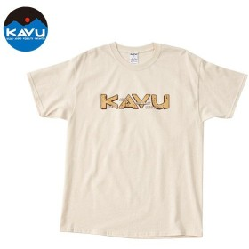 カブー KAVU メンズ エイティーズロゴTシャツ ナチュラル