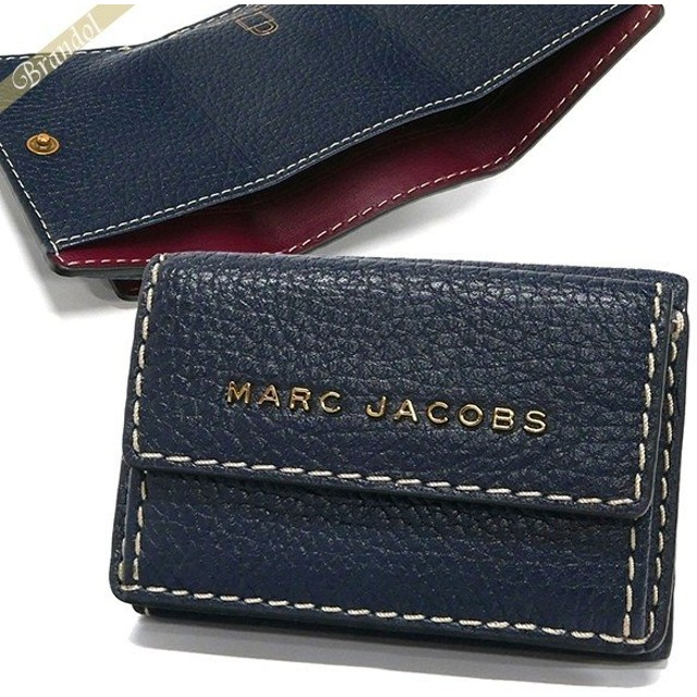 MARC JACOBS マークジェイコブス 三つ折り財布 ロゴ レザー M0014702