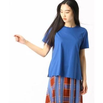 COMME CA DU MODE コムサデモード サイドプリーツTシャツ
