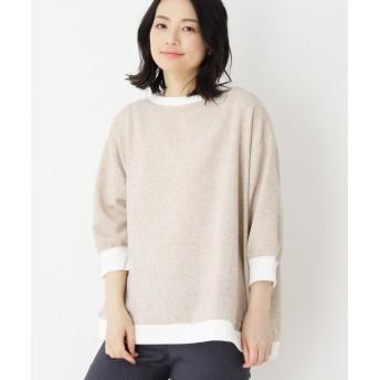 Tシャツ - SHOO・LA・RUE リブツイードドルマンプルオーバー