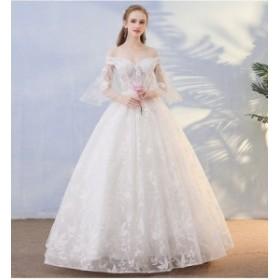 スカート  チュールスカート ウェディングドレス 上品  刺繍  ロング 発表会 撮影 舞台 編み上げ パーティ 結婚式 結婚式二次会 お呼ばれ