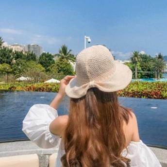 帽子 レディース 日焼け防止 折りたたみ カワイイ オシャレ 春夏 ハット お出かけ 旅行 紫外線対策 つば広 サマー帽子