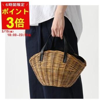 BAGMATI バグマティ BBK19 11 アラログ×レザー かご カゴバッグ バスケットバッグ Natural/Black レディース