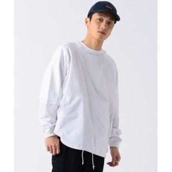 BEAMS / ナイロンスウィッチ クルーネック スウェットシャツ メンズ スウェット WHITE S