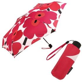 マリメッコ 傘 MARIMEKKO レディース 038654 001 PIENI UNIKKO MINI MANUAL 折り畳み傘 WHITE/RED 夏フェス 海 ビーチ