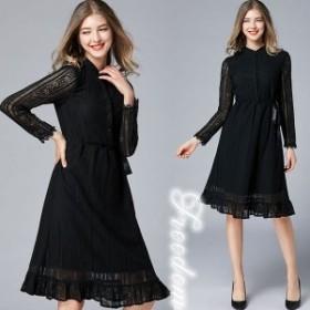 セール 大きいサイズ ドレス 結婚式 ★着るだけで痩見えのスリム効果総レースドレスワンピース★L 2L 3L 4L 5L 6L サイズ yoro551