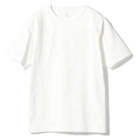 <MEN>ANATOMICA / マルニエ クルーネック ボーダーTシャツ メンズ Tシャツ OFF WHITE M
