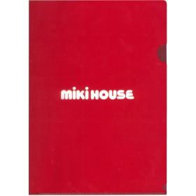 ミキハウス A4クリアファイル 赤