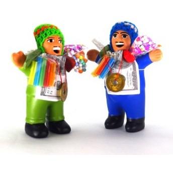 風水グッズ エケコ人形(14cm)(風水古銭付) ペルー産 エケッコ人形 仰天ニュース 幸せを呼ぶ 置物 飾り物 癒し 金運祈願 開運祈願