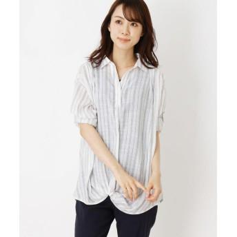 SHOO・LA・RUE(シューラルー) 【2点セット】スラブねじりシャツ+タンクトップ