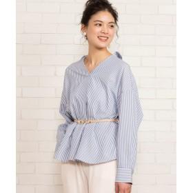 シャツ - WEGO【WOMEN】 BIGスキッパーシャツ BS19SP03-L006