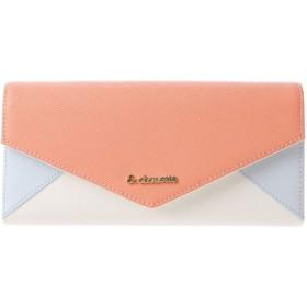 &シュエット レター型かぶせ財布 オレンジ
