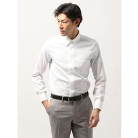 【THE SUIT COMPANY:トップス】◆ANTONIO LAVERDA◆ボタンダウンカラードレスシャツ 織柄 〔Easy Care〕