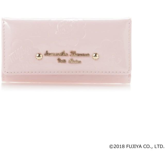 サマンサタバサプチチョイス ペココレクション エナメル型押し キーケース ピンク