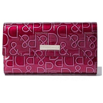 Pinky & Dianne(BAG) ドルチェ 型押しレザー長財布(ボルドー)