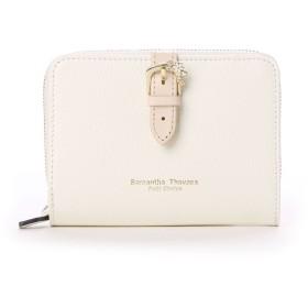 サマンサタバサプチチョイス ベルトモチーフシリーズ ラウンドジップ折財布(ホワイト)