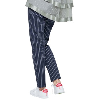 ジーラ バイ リュリュ GeeRa by RyuRyu 楽チン!美ラインストレッチスキニーパンツ (ネイビーケイストライフ)